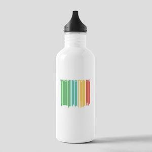 Vintage Washington DC Cityscape Water Bottle