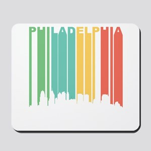 Vintage Philadelphia Cityscape Mousepad