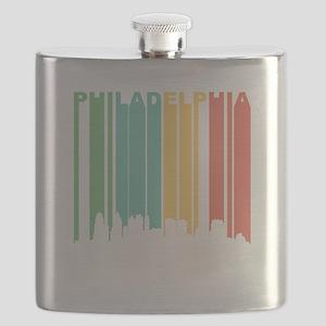 Vintage Philadelphia Cityscape Flask
