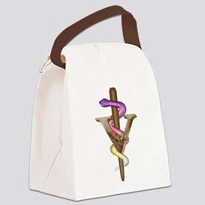Veterinarian Emblem Canvas Lunch Bag