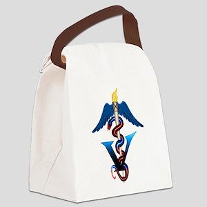 vet_blue Canvas Lunch Bag