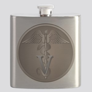 Veterinarian Caduceus Flask