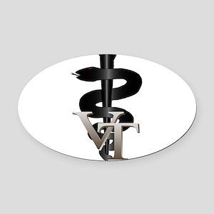 vet_tech_3 Oval Car Magnet