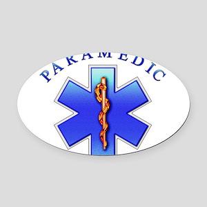 paramedic2 Oval Car Magnet