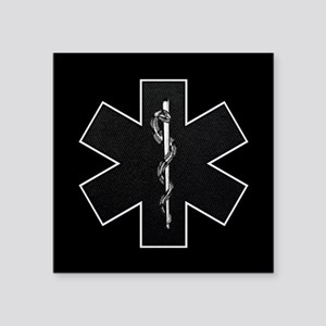 "emt_bw Square Sticker 3"" x 3"""