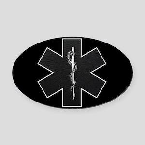 emt_bw Oval Car Magnet