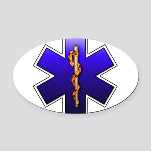 star_of_life Oval Car Magnet