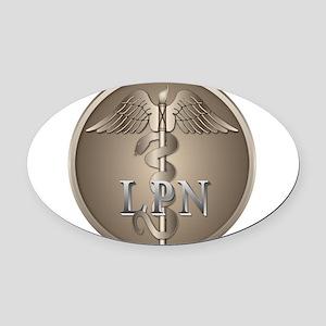 lpn2 Oval Car Magnet