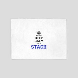 I can't keep calm Im STACH 5'x7'Area Rug