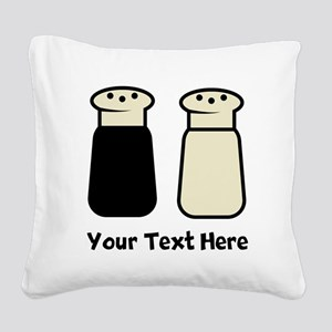 Salt And Pepper Square Canvas Pillow