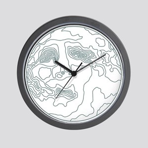 face in the moon Wall Clock