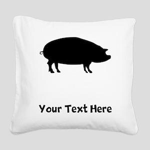Pig Square Canvas Pillow