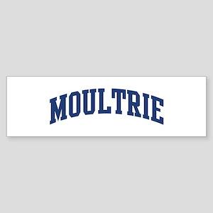 MOULTRIE design (blue) Bumper Sticker