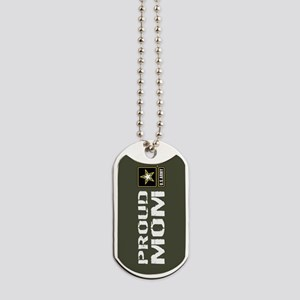 U.S. Army: Proud Mom (Military Green) Dog Tags