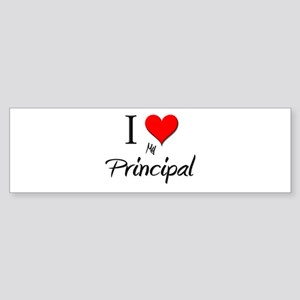 I Love My Principal Bumper Sticker