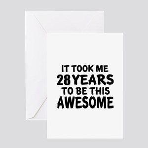 28th birthday greeting cards cafepress 28 years to be this awesome greeting card bookmarktalkfo Gallery