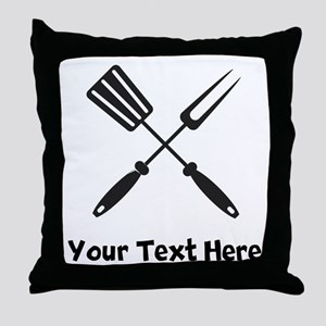 Grilling Utensils Throw Pillow