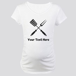 Grilling Utensils Maternity T-Shirt