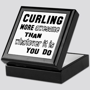 Curling more awesome than whatever it Keepsake Box
