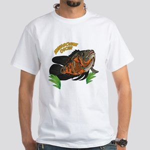 Red Tiger Oscarfish Mens T-Shirt