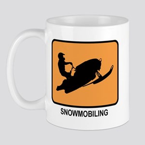 Snowmobiling (orange) Mug