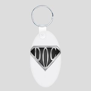 spr_doc2_chrm Aluminum Oval Keychain