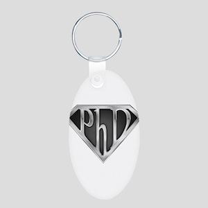 spr_phd2_chrm Aluminum Oval Keychain