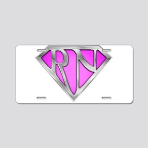 spr_rn3_pnk Aluminum License Plate