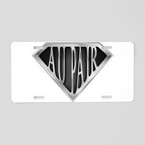 spr_au_pair2_chrm Aluminum License Plate