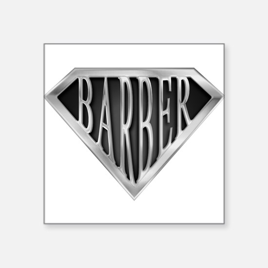 """spr_barber_chrm.png Square Sticker 3"""" x 3"""""""