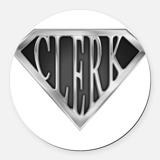 spr_clerk_c.png Round Car Magnet