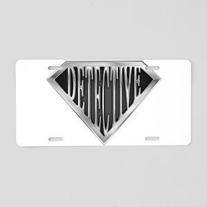 spr_detective_chrm Aluminum License Plate