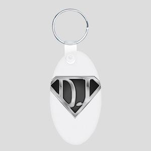 spr_dj_chrm Aluminum Oval Keychain