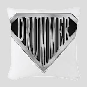 spr_drummer_chrm Woven Throw Pillow