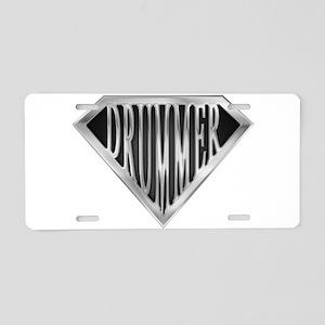 spr_drummer_chrm Aluminum License Plate