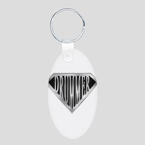 spr_drummer_chrm Aluminum Oval Keychain