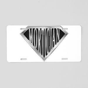 spr_mortician_chrm Aluminum License Plate