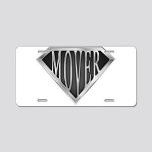 spr_mover2_chrm Aluminum License Plate