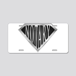 spr_notary_chrm Aluminum License Plate