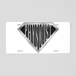 spr_physicist_chrm Aluminum License Plate
