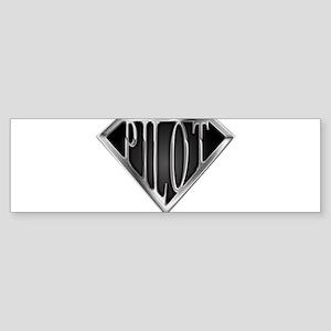 spr_pilot2_chrm Sticker (Bumper)