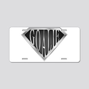 spr_goalie_chrm Aluminum License Plate