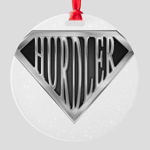spr_hurdler_chrm Round Ornament