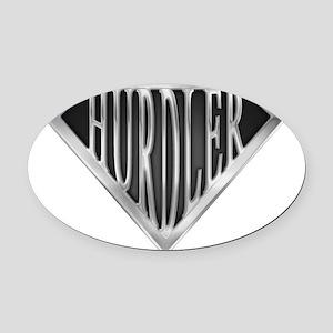 spr_hurdler_chrm Oval Car Magnet