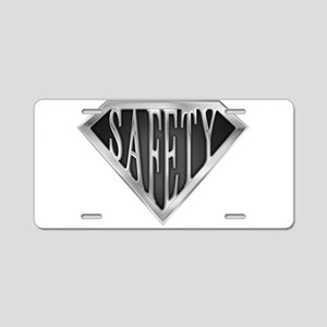 spr_safety_chrm Aluminum License Plate