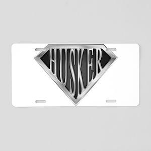 spr_husker_chrm Aluminum License Plate