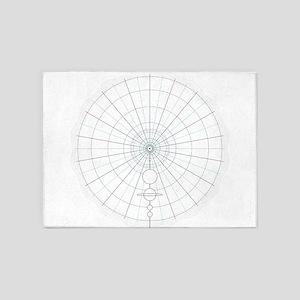 solar circle 5'x7'Area Rug