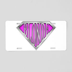 spr_blonde_pnk Aluminum License Plate