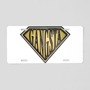 spr_gansta_bx Aluminum License Plate