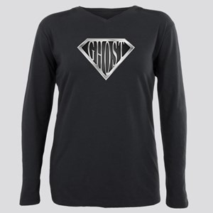 spr_ghost_chrm Plus Size Long Sleeve Tee